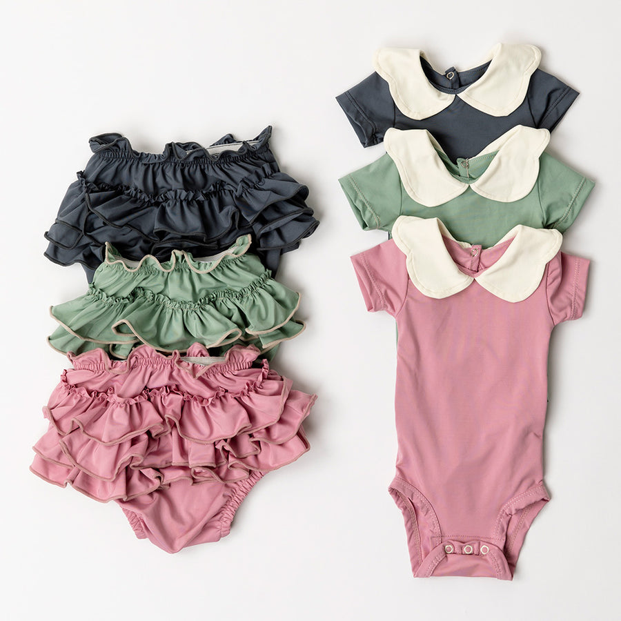 Happy Lil' One Baby Girl Bodysuit and Bloomer 6 Piece Set