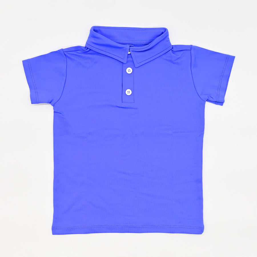 Happy Lil' One Toddler Boy The Polo Shirt in Delphinium
