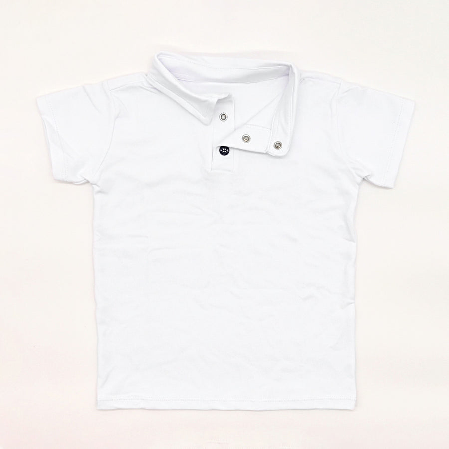 Happy Lil' One Toddler Boy The Polo Shirt in White