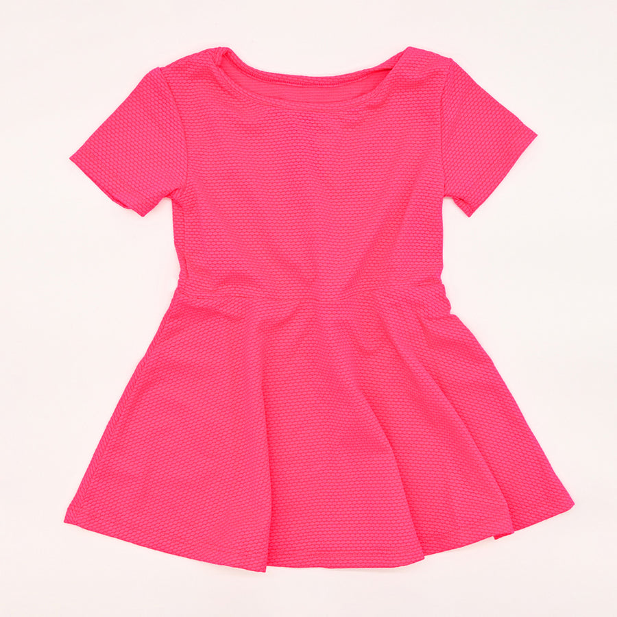 Happy Lil' One Toddler Girl Ready For Anything Dress in Fuchsia