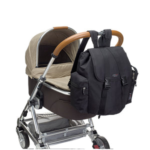 Storksak Travel Backpack Black changing Bag on buggy | Backpack changing bag | Storksak - Award-winning Baby Changing Bags & Accessories