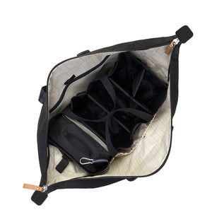 Storksak Travel Cabin Carry-on Black hospital bag internal view | Maternity hospital bag | Storksak - Award-winning Baby Changing Bags & Accessories