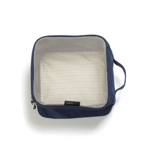 Storksak Travel Duffel Navy hospital bag small packing block empty | Maternity hospital bag | Storksak - Award-winning Baby Changing Bags & Accessories