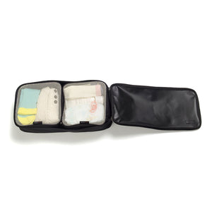 Packing Blocks Black Baby accessories small packing blocks packed inside large packing block filled | Storksak Travel Baby accessories | Storksak - Award-winning Baby Changing Bags & Accessories
