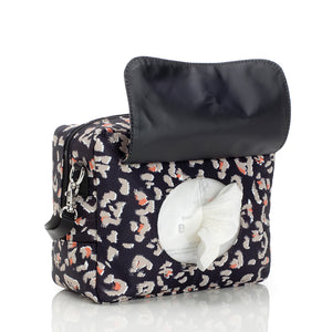 Mini-Fix Leopard Print Changing Bag with wipes pocket and dispenser | Shoulder Bag Changing Bag | Storksak – Award-winning Baby Changing Bags & Accessories