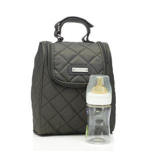 Bobby Charcoal Baby Changing Bag Insulated Bottle Holder | Shoulder Bag Changing Bag | Storksak – Award-winning Baby Changing Bags & Accessories