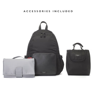 Hero luxe backpack | storksak changing bag | changing mat with storage | insulated bottle holder