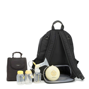 Hero luxe backpack | storksak changing bag | diaper bag with breast pump compartment | insulated bottle bag