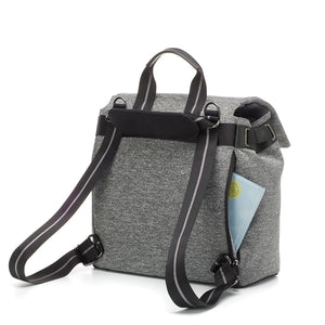 Storksak changing bag st james scuba backpack view, grey changing bag, Convertible changing bag