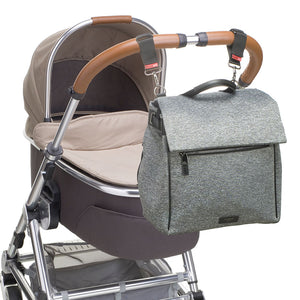 Storksak changing bag st james scuba attached to stroller, buggy, pram , grey changing bag, Convertible changing bag