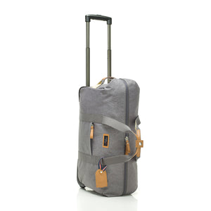 Storksak Travel Cabin Carry-on Grey hospital bag upright | Maternity hospital bag | Storksak - Award-winning Baby Changing Bags & Accessories