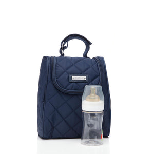 Poppy dark blue Baby Changing Bag insulated bottle holder | Convertible Changing Bag | Storksak – Award-winning Baby Changing Bags & Accessories