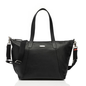 Noa leather Black Baby Changing Bag | shoulder Changing Bag | Storksak – Award-winning Baby Changing Bags & Accessories