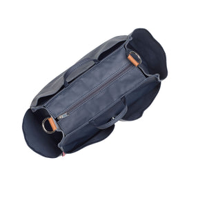 stroller organiser navy Bag on pram top view | pram caddy Changing Bag | Storksak – Award-winning Baby Changing Bags & Accessories