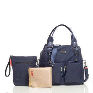 Alexa navy Baby Changing Bag with accessories | shoulder Changing Bag | Storksak – Award-winning Baby Changing Bags & Accessories