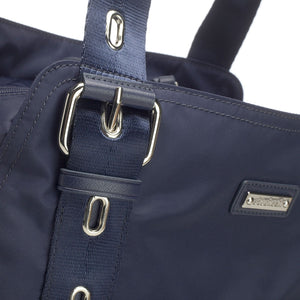 Alexa navy Baby Changing Bag close up | shoulder Changing Bag | Storksak – Award-winning Baby Changing Bags & Accessories