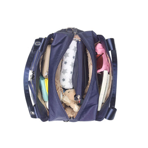 Alexa navy Baby Changing Bag internal view | shoulder Changing Bag | Storksak – Award-winning Baby Changing Bags & Accessories