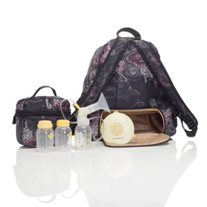 Hero floral backpack | storksak changing bag | breast pump compartment | wipe clean | waterproof