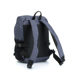 Storksak eco Travel Backpack Navy | Award winning changing bags | unisex rucksack  | back view with padded straps