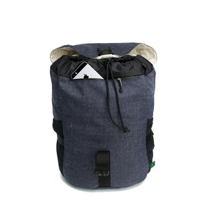 Storksak eco Travel Backpack Navy | Award winning changing bags | unisex rucksack  | recycled material | hidden pocket