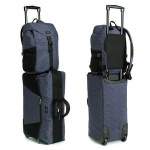 Storksak eco Travel Cabin Carry-On Navy | Award-winning changing bags | hospital bag | luggage with wheels| Matching items available | recycled material
