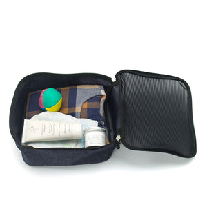 Storksak eco Travel Cabin Carry-On Navy | Award-winning changing bags | hospital bag | luggage with wheels| Packing cube | recycled material