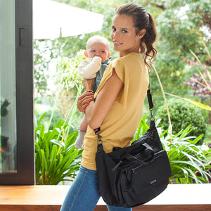 seren black Baby Changing Bag | convertible bag Changing Bag | Storksak – Award-winning Baby Changing Bags & Accessories