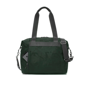 Stevie luxe Camo emerald | storksak changing bag | concealed back phone pocket | unisex diaper bag
