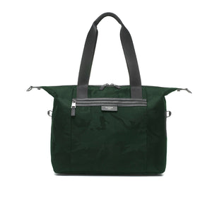 Stevie luxe Camo emerald | storksak changing bag | Baby bag tote | green diaper bag