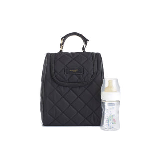 Stevie quilt black Baby Changing Bag | shoulder bag Changing Bag insulated food and bottle bag | Storksak – Award-winning Baby Changing Bags & Accessories