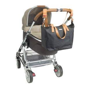Noa grey Baby Changing Bag on stroller | shoulder bag Changing Bag | Storksak – Award-winning Baby Changing Bags & Accessories