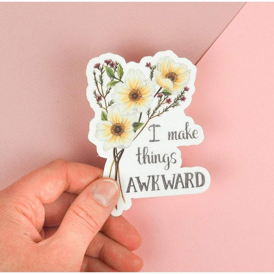 I make things awkward sticker