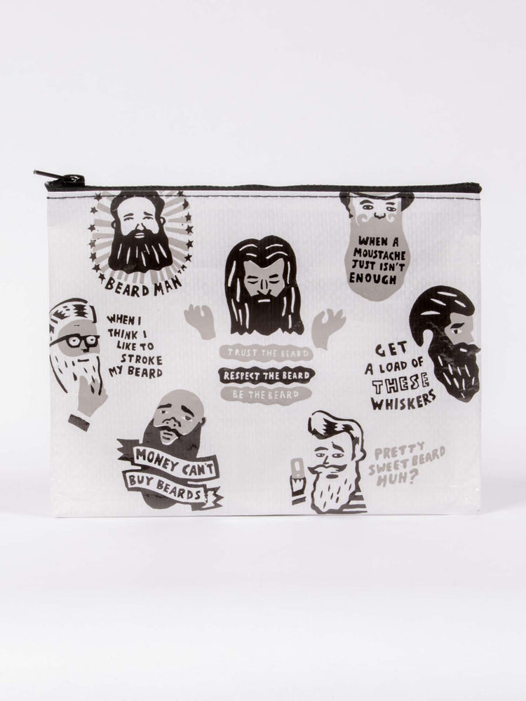 majestic beard zipper toiletry pouch