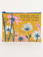 wildflowers stand tall zipper carry all