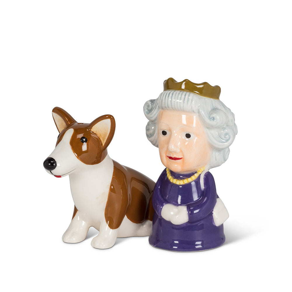 Queen and Corgi Salt and Pepper Shaker