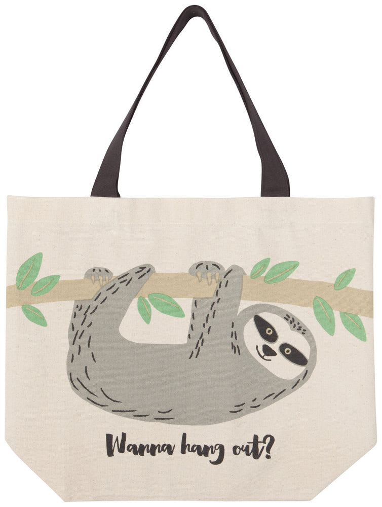 Sybil the Sloth Large tote