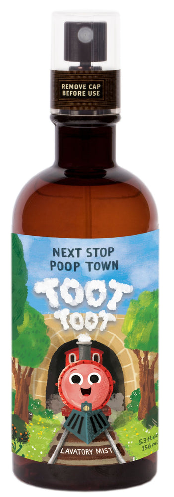 toot toot next stop poop town Lavatory Mist