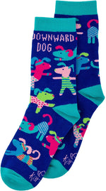 downward dog ladies socks