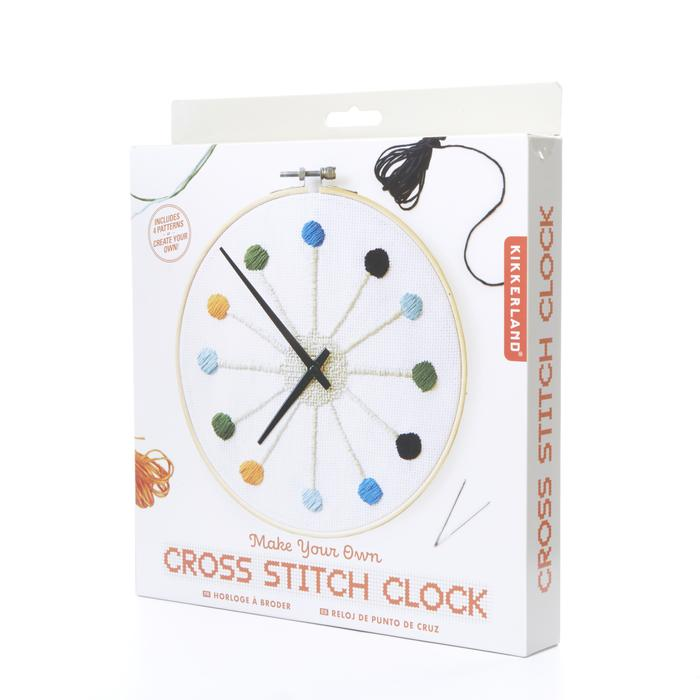 Cross stitch clock kit