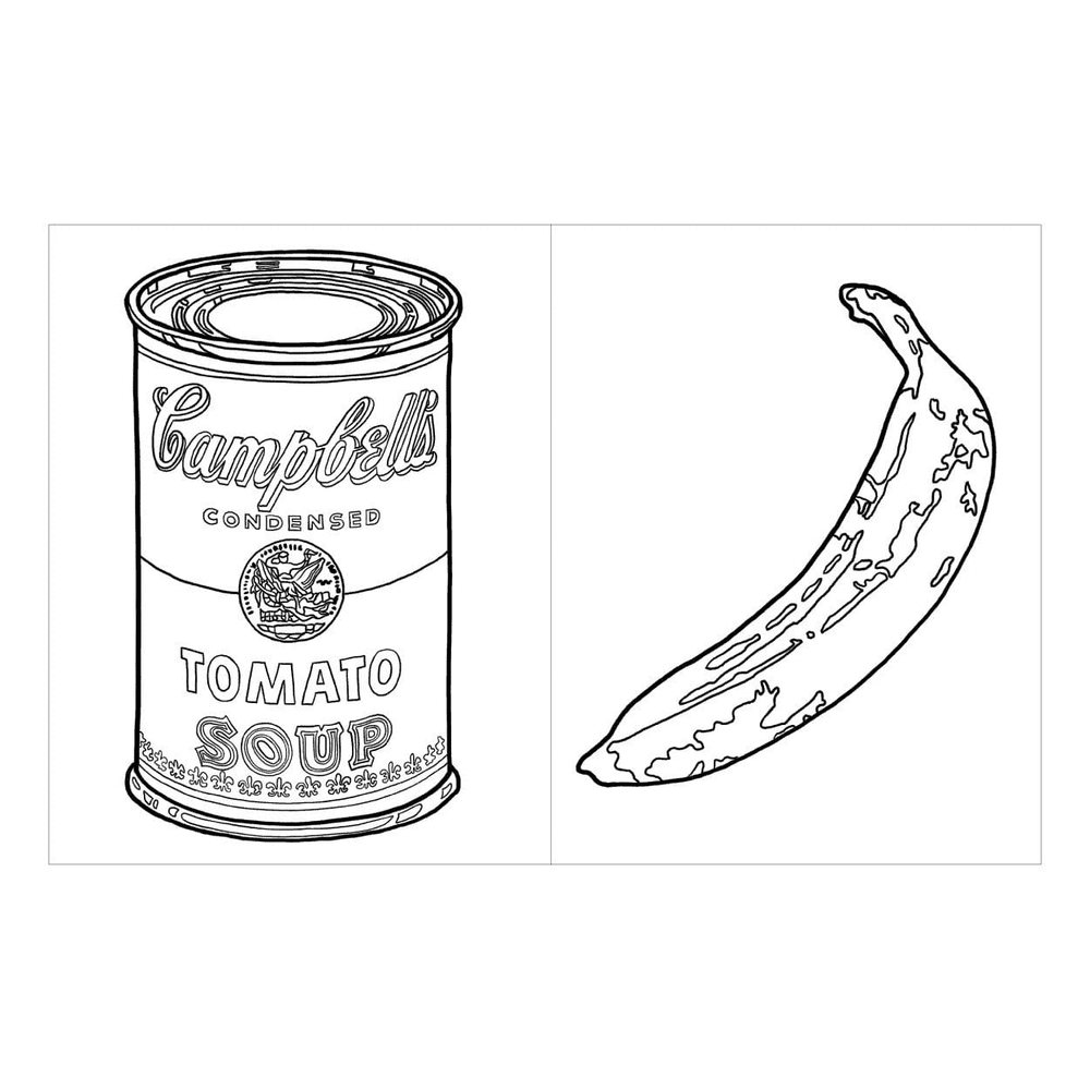 Andy Warhol Colouring book