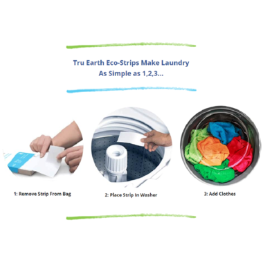 tru earth eco laundry strips - fresh linen