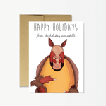 holiday armadillo card