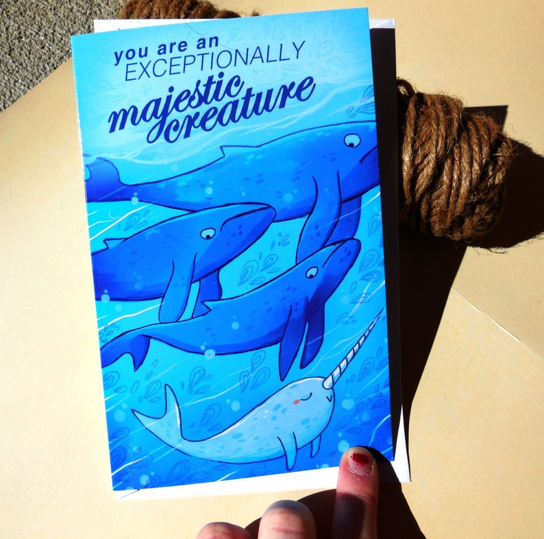 Magestic Whale Greeting Card