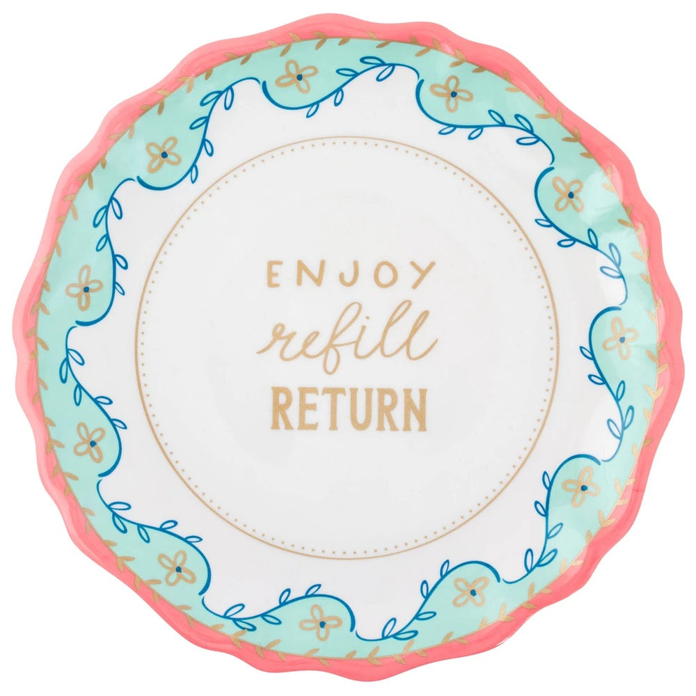 The Ungiving Plate - Enjoy, Refill, Return