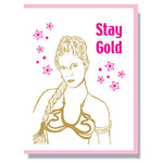 Stay Golden - RIP Leia Card by Smitten kitten