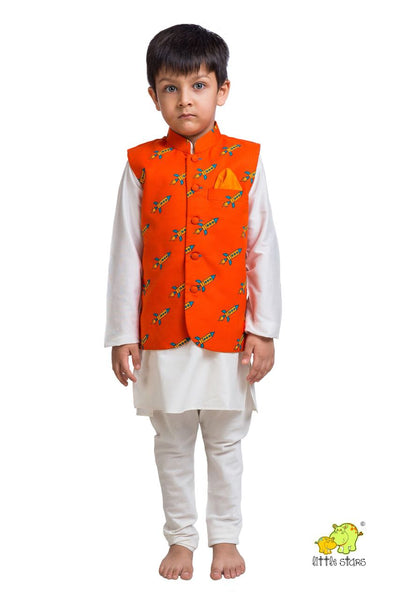 Rocket Printed Nehru Jacket (Jacket only)