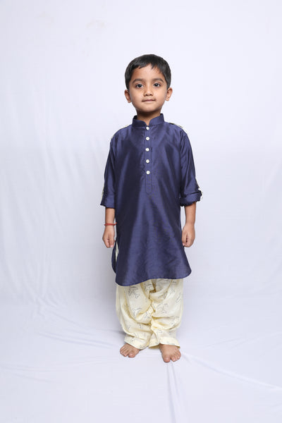 Pathani set with Printed Patiala