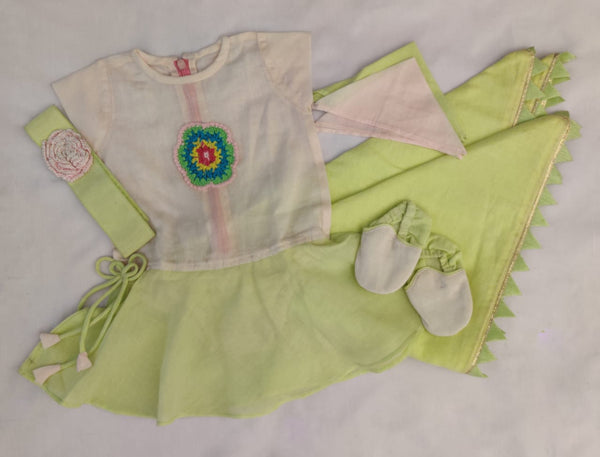 Jamna Set with Onesie/Shoes/Handkerchiefs/Headband