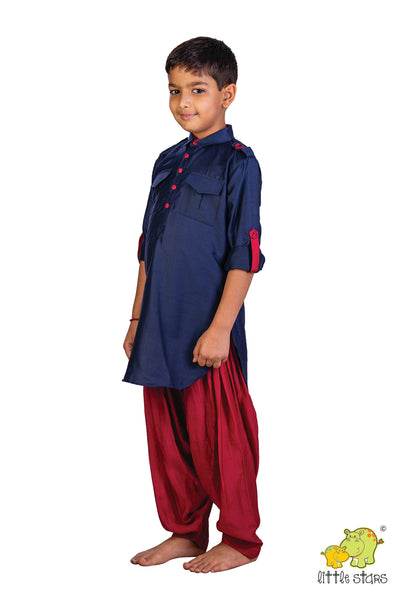 Football Embroidered Pathani with Patiala
