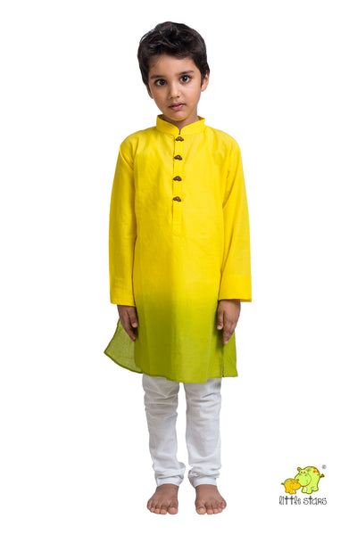 Shaded Kurta Churidar Set